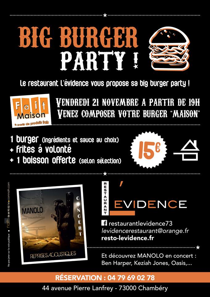 Flyer Big Burger Party